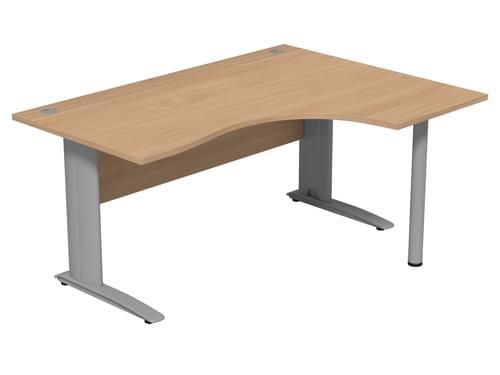 Komo 1600mm Right hand radial desk Cantilever Legs - Beech