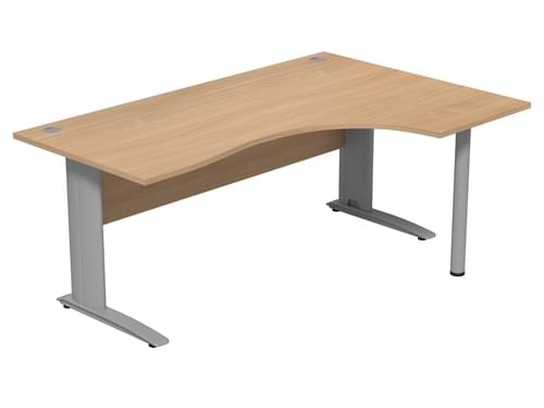 Komo 1800mm Right Hand Radial desk with Cantilever Legs - Beech