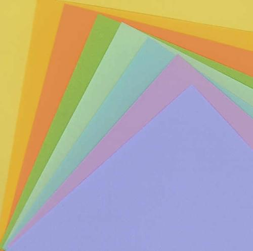 Assorted Coloured Paper (100 sheets)