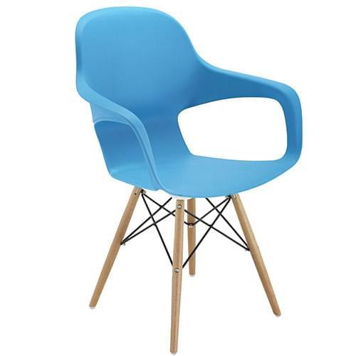 Ariel 2 Canteen & Breakout 4 Leg Wooden & Wire Chair Blue