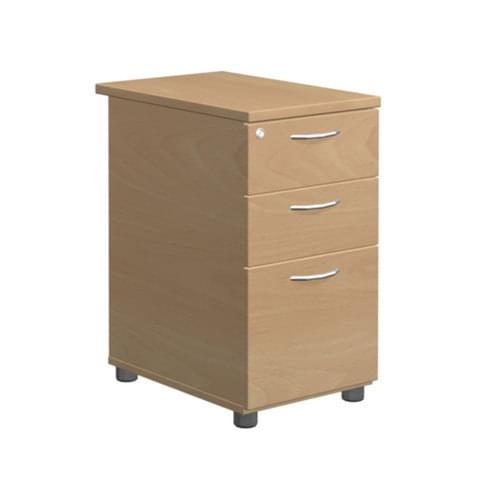 Beech Desk High Pedestal 725H x 600D x 400W