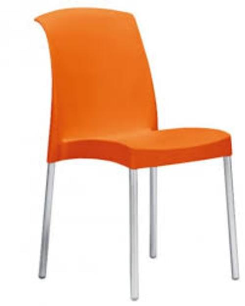 Jenny 4 Leg Chair - Orange (Set of 6 Chairs)