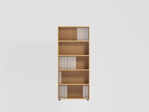 Open Bookcase 1850mm - 5 Level - Beech