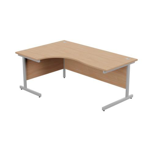Beech Left Hand Radial Desk 1800mm x 1200mm