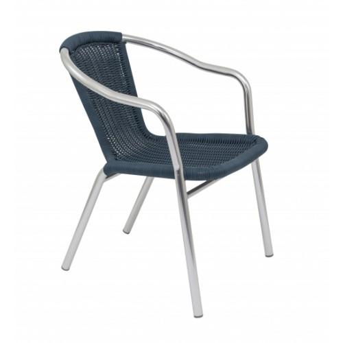 Plaza Armchair - Wicker - Blue