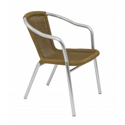 Plaza Wicker Bistro Chair Natural
