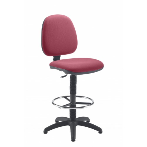 Claret Medium Back Draughtsman Chair