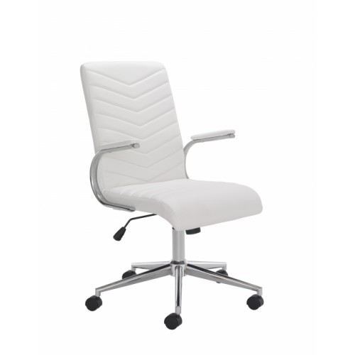 Baresi Executive White Leather Office Chair
