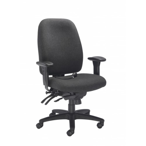 Vista Heavy Duty Posture Charcoal Office Chair