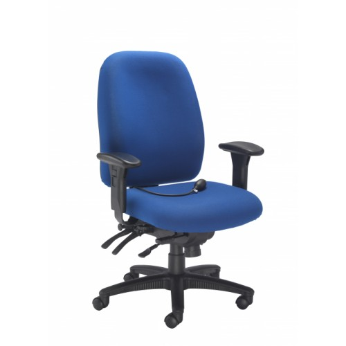 Vista Heavy Duty Posture Blue Office Chair
