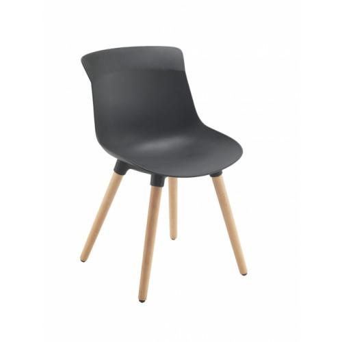 Chester Wooden Leg Breakout Chair Black