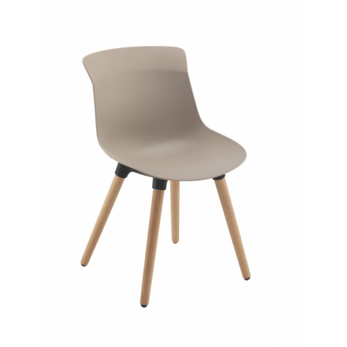 Chester Wooden Leg Breakout Chair Mocha