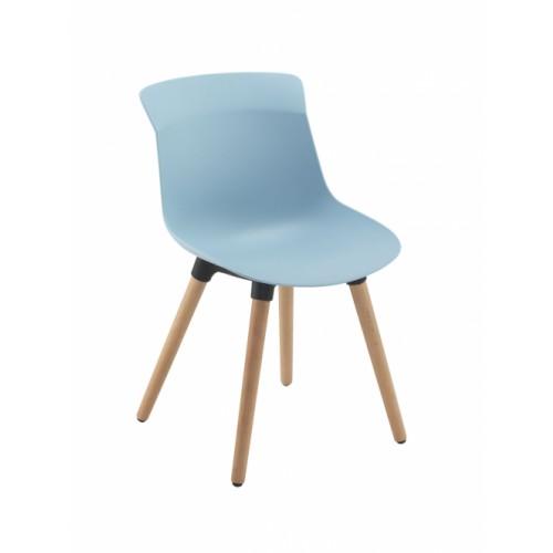Chester Wooden 4 Leg - Pastel Blue
