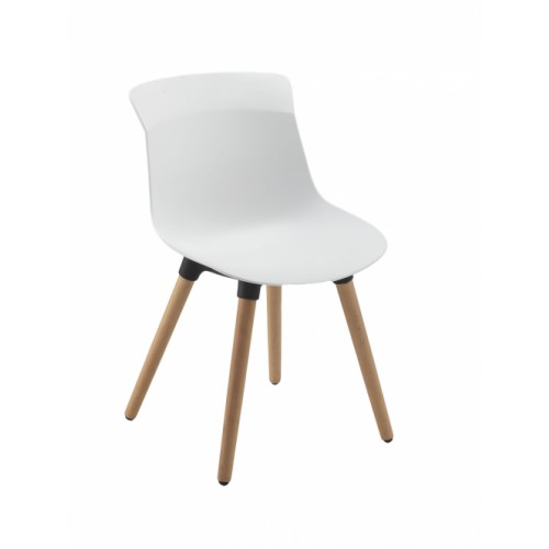 Chester Wooden Leg Breakout Chair White