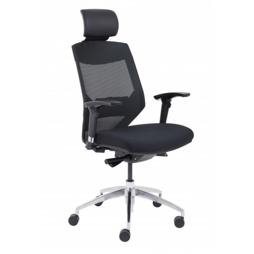 Vogue High Back Mesh Operator Chair with headrest