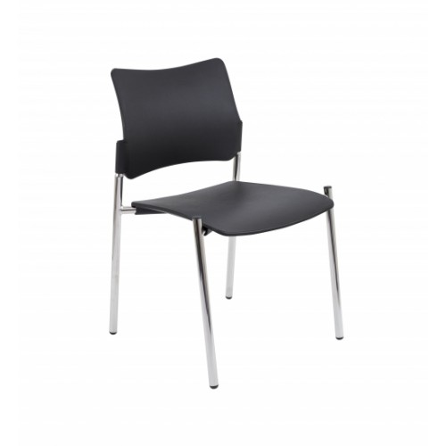 Florence Wipe Clean Side Chair Chrome Legs CH3515