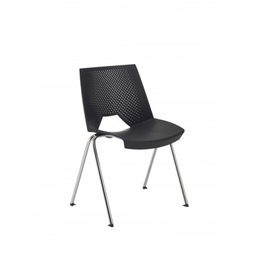 Tornado Wipe Clean Black Stacking Chair