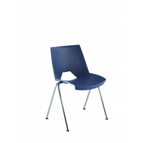 Tornado Wipe Clean Blue Stacking Chair CH5300BL