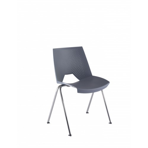 Tornado Wipe Clean Grey Stacking Chair CH5300GR