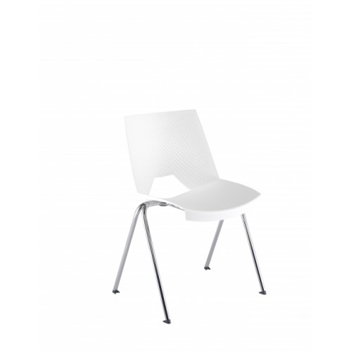 Tornado Wipe Clean Stacking Chair - White