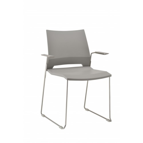 Rome Stylish Wipe Clean Grey Chair