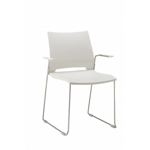 Rome Stylish Wipe Clean White Chair