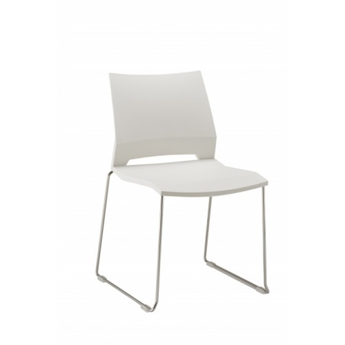 Rome Stylish Wipe Clean White Chair no Arms
