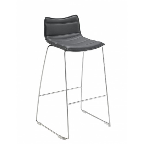 Milan PU Black Bar Stool