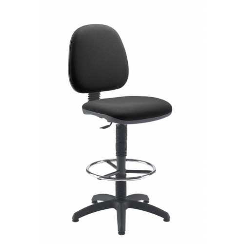 Charcoal Medium Back Draughtsman Chair