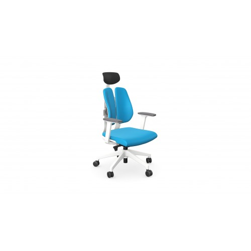 Duorest 2.0 Ergonomic Posture Chair with Headrest Blue