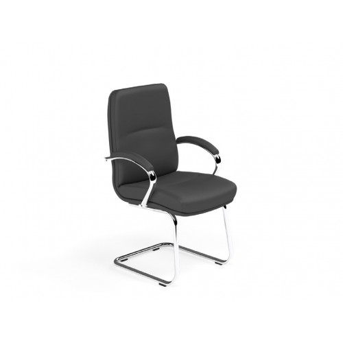 Idaho Boardroom Lotus Leather Chair Cantilever legs