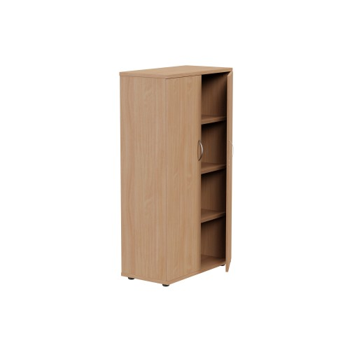2 Door Lockable Bookcase 1490mm - 4 Level - Beech