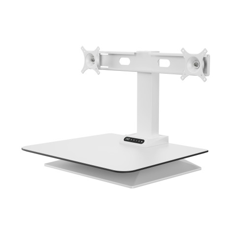 Leap Double monitor arm sit stand desk converter