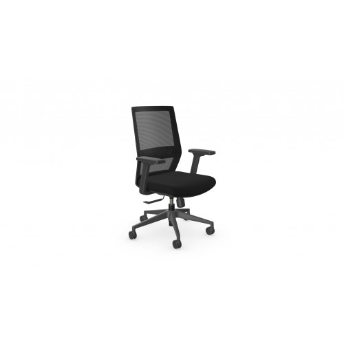 MESH-ME High Back Mesh Swivel Operators Chair with Adjustable Arms