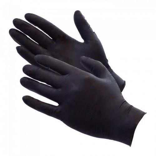 Gloves Nitrile Black Large Pk100