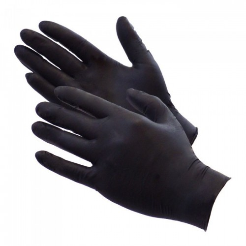Gloves Nitrile Black Medium  PK100
