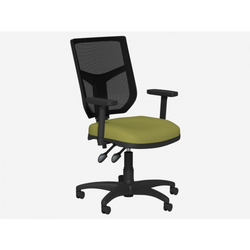 Light Green High Back Mesh Chair with Adjustable Arms