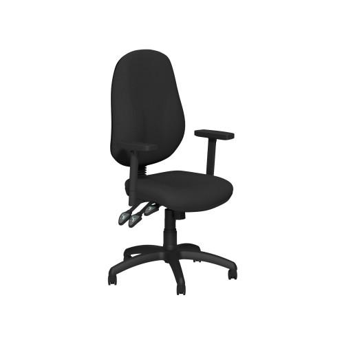 OB Operators chair Black Fabric Adjustable arms