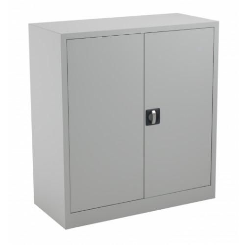 Lockable Steel Storage Cupboard 1000mm High - Grey