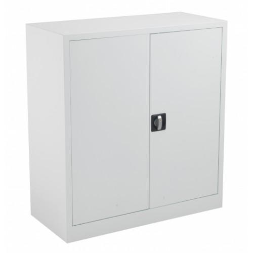 Lockable Steel Storage Cupboard 1000mm High - White