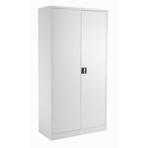 Lockable Steel Storage Cupboard 1790mm High - White