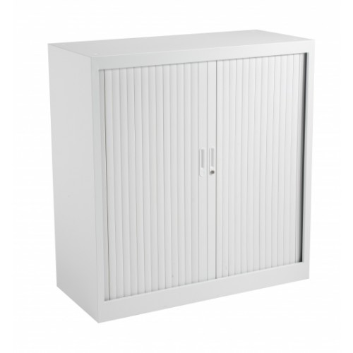Talos Steel Tambour Unit 1000mm High WHITE