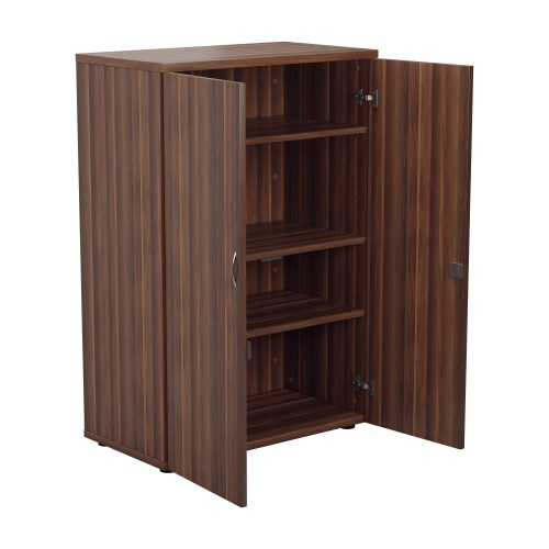 Lockable Bookcase H1200xW800xD450 - Dark Walnut