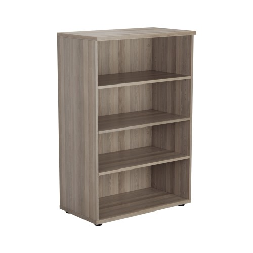 1200 High Bookcase 3 Shelf - Grey Oak