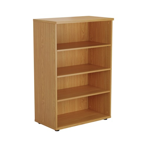 Open Bookcase 1200mm High - Oak