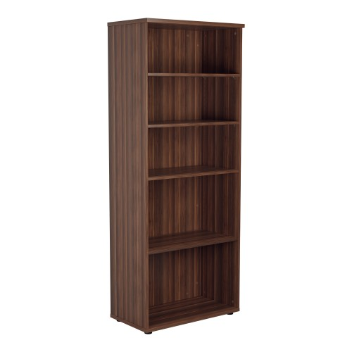 2000mm High Bookcase 4 Shelf Dark Walnut