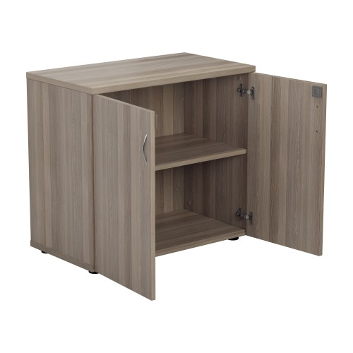 Lockable Bookcase 730High x 800Wide x 450Deep - Grey Oak