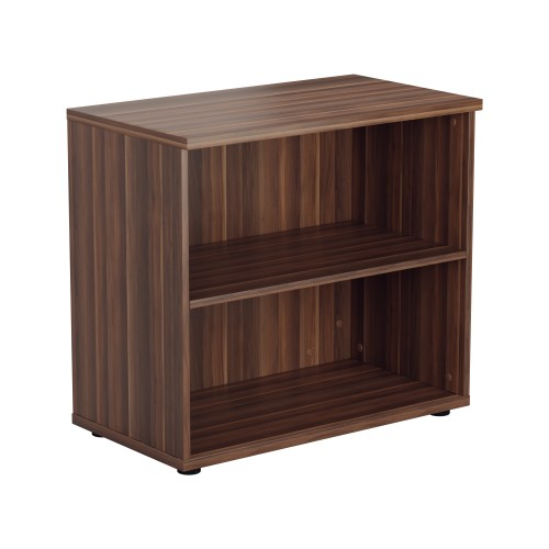 730mm High Open Bookcase 1 Shelf - Dark Walnut