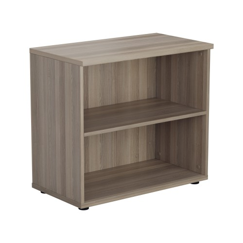 Open Bookcase 730mm - 2 Level - Grey Oak
