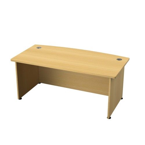 Regent 2000mm Bow Front Desk Nova Oak